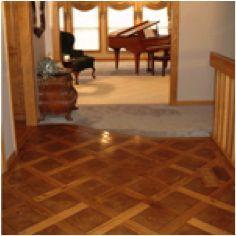 Diamond shapes in hardwood flooring