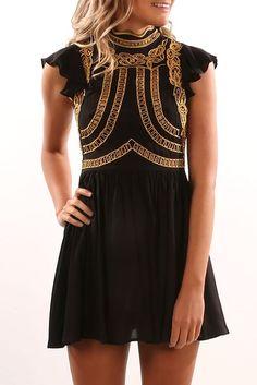 Take A Risk Dress Black