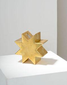 Ettore Sottsass; Gold Glazed Ceramic 'Yantra' Vase for Design Centre, 1969.