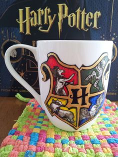 Hogwarts Crest Mug - Harry Potter - Albus Dumbledore quote 'it does not do to dwell on dreams and forget to live' - J. K. Rowling on Etsy, $22.53