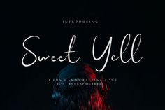 Sweet Yell is a stylish and modern script font, perfect for minimal designs or fun and carefree projects. Sweet Yell lives up to its namesake as a sweet addition to any of your projects. Best Script Fonts, Modern Script Font, Best Free Fonts, Handwritten Script Font, All Fonts, Font Free, Script Type, Wedding Fonts, Beautiful Fonts