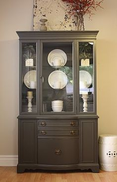 Idea for China Hutch redo - want to redo mine, can't decide color, decisions, decisions.
