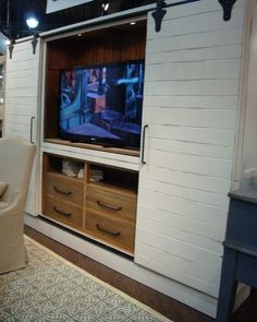 Floating tv stand with fireplace barn door cabinet entertainment center for