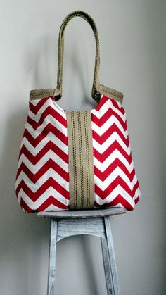 Love the straps on this one made of jute...not a fan of Chevron, would def make w/dif fabric :)