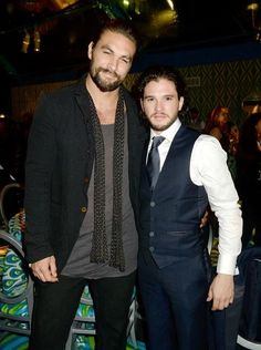 Jason Momoa and Kit Harington