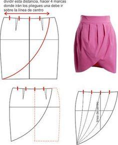Tulip Skirt Pattern drafting