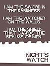 Night's Watch Minimalist Cutout by atlasspecter