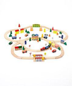 Look what I found on #zulily! 102-Piece Triple Loop Train Set #zulilyfinds
