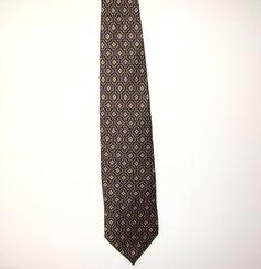 VanHeusen Mens Imported 100% Silk Made in USA Dress Necktie Neck Tie 58in #VanHeusen #Tie