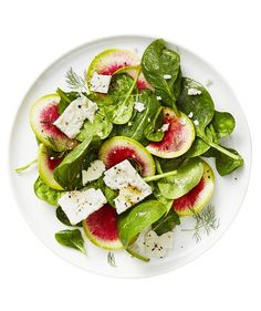 Spinach and Radish Salad With Feta | RealSimple.com