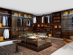 Popular Begehbarer Kleiderschrank Wandmontage modern Holz High End DRESSING ROOM