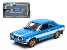 "Brian's 1974 Ford Escort RS2000 MK 1 ""The Fast and The Furious"" Movie (2013 ) 1/43 Diecast Model Car by Greenlight - Rubber tires. Brand new box. Limited Edition. Detailed interior, exterior. Comes in plastic display showcase. Dimensions approximately L-5 inches long.-Weight: 1. Height: 5. Width: 9. Box Weight: 1. Box Width: 9. Box Height: 5. Box Depth: 5"