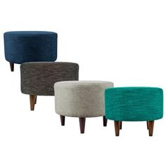 MJL Furniture Sophia Lucky Round Upholstered Ottoman | Overstock.com Shopping - The Best Deals on Benches