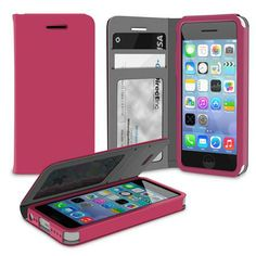 This is a favorite among the ladies - The #roocase Flip Cover Wallet Case for Apple iPhone 5C -  Magenta