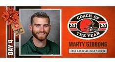 Cleveland Browns named Lake Catholic's Marty Gibbons 2020 Coach of the Year - High School Football America Monday Night Football Game, Youth Football, High School Football, Browns Players, Jeff Fisher, Football America, High School Games, Van Wert, Coach Of The Year