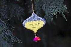 Matilda by Jain&Kriz. Christmas decoration hand painted by traditional papier mache artisans in Kashmir.