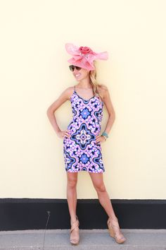 Alice & Trixie Sabine Dress // Celine Sunglasses // DVF Nude Wedes // Carol Bader Designs Fascinator // Race to The Finish // Kentucky Oaks // Kentucky Derby // snapped by gracie