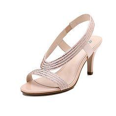 De Dumoo verano de las mujeres de Nueva elegante Sexy Diamond Sandals (Champagne) – EUR € 14.84