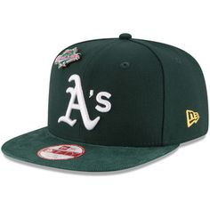faa517418b1 Men s New Era Green Oakland Athletics Pin Collection 9FIFTY Adjustable  Snapback Hat