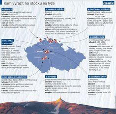 Kam vyrazit na otočku na lyže. Map, Location Map, Maps