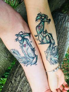 #tattoo #coupletattoo #timburton #relationshipgoals #iceage