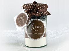 Double Chocolate Brownies, Backmischung im Glas // baking mixture in a jar by Annie's Bakery via dawanda.com