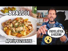 Brassói aprópecsenye, pont úgy, ahogy Zé szereti - YouTube Lidl, Naan, Baking Recipes, Food To Make, Chicken, Youtube, Beverages, Street, Kitchen