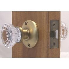 Good A Very Affordable Fluted Crystal Glass U0026 Antique Brass Passage Door Knob  Sets For Modern Doors