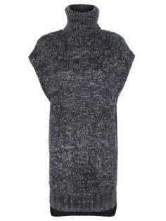 Γυναικείο κοντομάνικο πουλόβερ/ φόρεμα. Χρώμα: Γκρι High Neck Dress, Golf, Turtle Neck, Womens Fashion, Dresses, Turtleneck Dress, Gowns, Women's Fashion, Dress