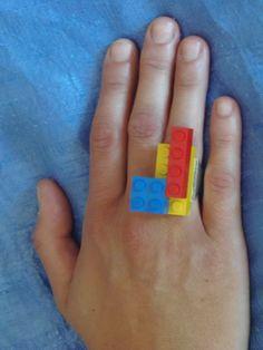 (2) Δαχτυλίδι σύνθεση από μικρά lego