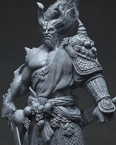 Hello guys, This is my latest work I have been working in my free time, the character is based upon Du Showwhy and Yang Qi concept art. Everything is sculpting in zbrush and rendered with maya v-ray and compiled in pho… Zbrush Character, Character Modeling, Character Art, Zbrush Models, 3d Models, 3d Fantasy, Dark Fantasy, Digital Sculpting, 3d Figures