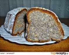 Makovo-tvarohová bábovka Czech Desserts, Eastern European Recipes, Czech Recipes, Pie Dessert, Banana Bread, Tart, Cupcake, Food And Drink, Favorite Recipes