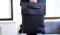 Dillinger back pack Martin Dust leather cuire sac à dos minimalist unique fit macbook Montréal black noir