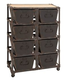 Look what I found on #zulily! Industrial Rolling Cabinet by UMA Enterprises #zulilyfinds