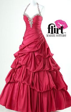 Crimson or Orange Taffeta Halter Sweetheart Ruched prom dresses Back is pretty Wholesale Wedding Dresses, Puffy Dresses, Evening Dresses, Formal Dresses, Line Shopping, Homecoming Dresses, Flirting, Ball Gowns, Party Dress