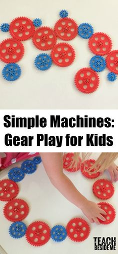 Learn about simple machines with this gear play activity. Play with gears, and magnets in this Science and engineering education activity for kids. Science Activities For Kids, Stem Science, Preschool Activities, Physical Science, Science Classroom, Earth Science, Play Activity, Science Education, Family Activities