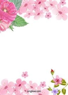Pink And Beautiful Flowers Fresh Nail Advertising Poster Background Material Watercolor Flower Background, Leaf Background, Paint Background, Background Images, Flower Backgrounds, Flower Wallpaper, Colorful Backgrounds, Frame Floral, Flower Frame