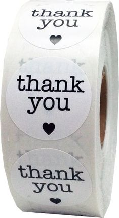 1000 Round Thank You Stickers 1 Inch Circle by TheDotSpotLane
