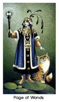 Page of Wands - The Cat People Tarot Deck