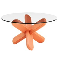 Ding table, coral Manufacturer: Normann Copenhagen Design: Ding3000