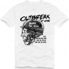 gepinnt von Shopwiki.de: T-Shirt Outbreak of Crime Born to Kill S-3XL, Die Blicke anderer sind dir sicher.Das T-Shirt Outbreak of Crime Born to Kill hat die gewohnte Qualität von 180g/qm,Material:100% Baumwolle.