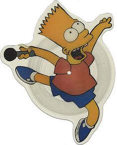The Simpsons, Do The Bartman, UK, Deleted, shaped picture disc (picture disc vinyl record), Geffen, GEF87P, 247146