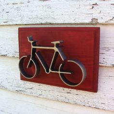 Bike Wall Art Iron Sculpture Bicycle Dorm Decor by baconsquarefarm