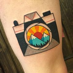WEBSTA @ winstonthewhale - First one done at @tildeathdenver! I found out how hard it is to take a good photo of a rectangular tattoo...but stoked on this fun camera! Thanks Zach! #TattooIdeasFirst