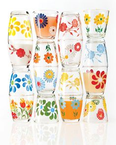 vintage sour cream glasses- these would make cute juice glasses!