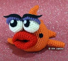 Marilyn the fancy Fish - free crochet pattern and Phototutorial