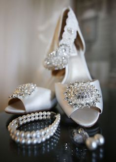 Wedding shoes idea; featured photographer: Photos by Kintz