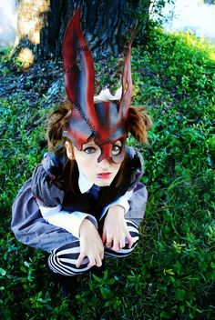 Spliced Bunny Leather Mask by EpicLeather on Etsy, $99.99