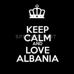 KEEP CALM AND LOVE ALBANIA - tshirt Männer Premium T-Shirt Keep Calm And Love, Albania, Dior, Proud Of You, Kleding, Dior Couture