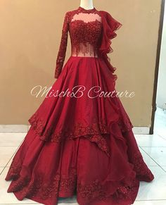 Image may contain: one or more people, people standing and text Indian Wedding Gowns, Indian Gowns Dresses, Indian Bridal Outfits, Indian Designer Outfits, Designer Gowns, Gown Wedding, Wedding Reception, Engagement Gowns, Lehnga Dress